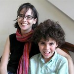 Lenore Skenazy col figlio